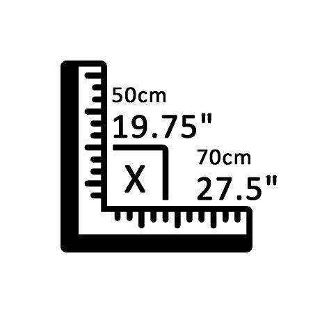 50 cm X 70 cm
