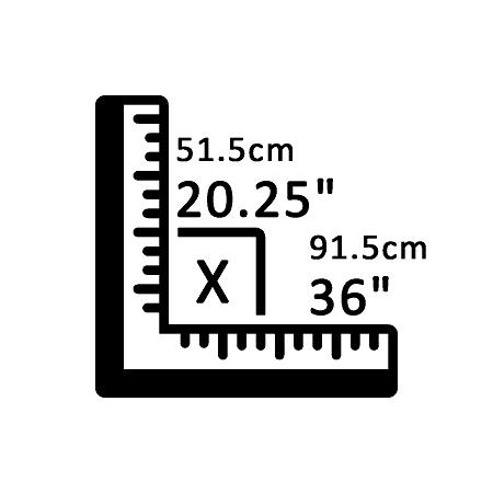 51,5 cm X 91,5 cm