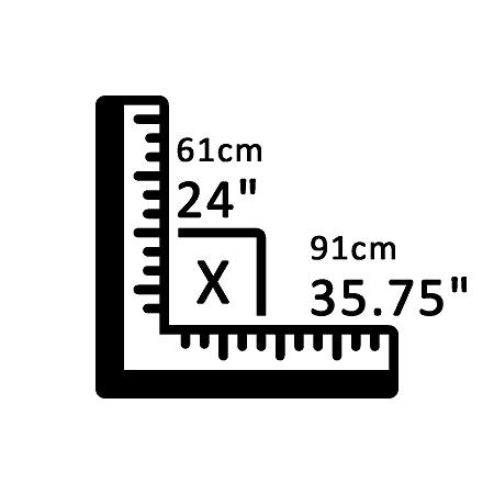 61 cm X 91 cm
